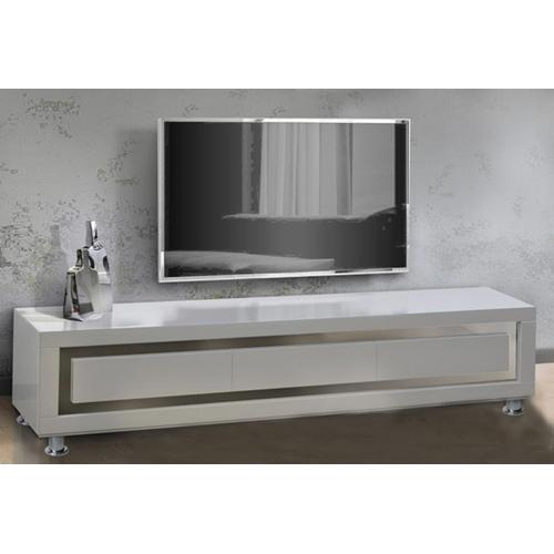 מזנון לסלון בצבע לבן בגימור אפוקסי מבית LEONARDO