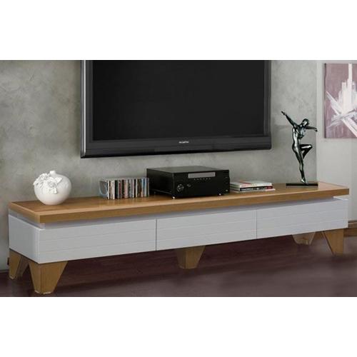 מזנון לסלון בצבע לבן בשילוב עץ מבית LEONARDO