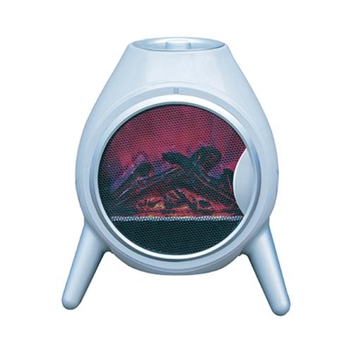 תנור דמוי קמין עגול לבן COBRA YH-21