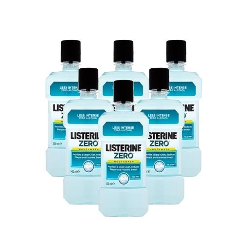 מארז חסכוני 6 בקבוקי מי פה LISTERINE ליסטרין ZERO