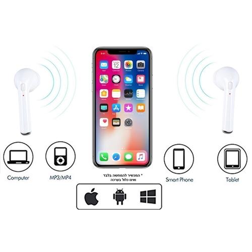 זוג אוזניות בלוטוס אלחוטיות טכנולוגיה חדשנית TWS