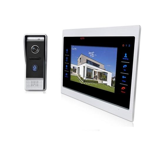 אינטרקום וידאו משולב מצלמה והקלטה כולל מסך LCD