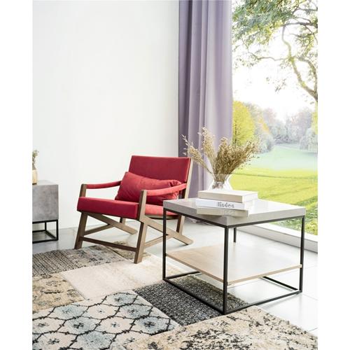 שולחן קפה מרובע מעוצב מעץ