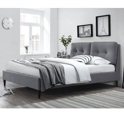 מיטה זוגית מעוצבת בריפוד בד HOME DECOR