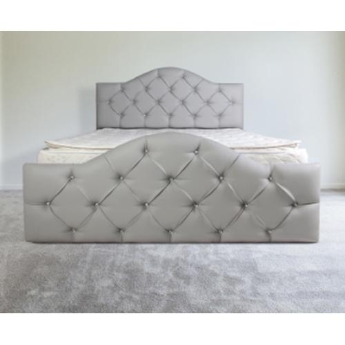 מיטה מרופדת בעלת ראש מעוגל מעוצב OLIMPYA