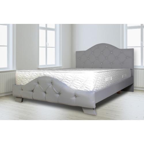 מיטה מרופדת בעלת ראש מעוגל
