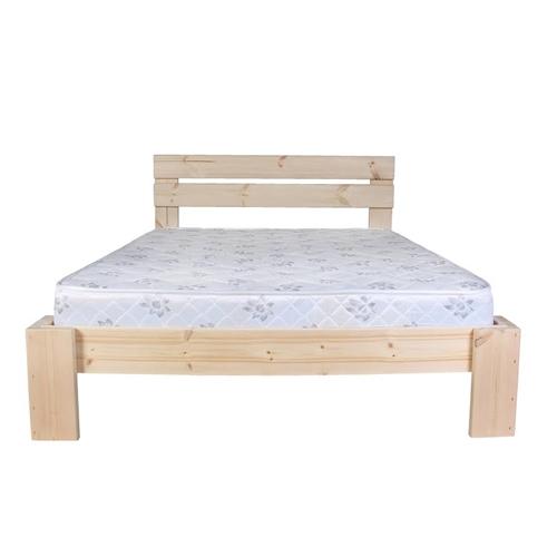 מיטה זוגית מעץ אורן מלא עם מזרון