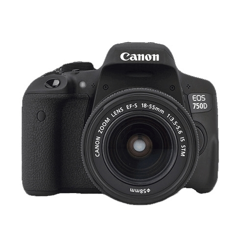 """מצלמה DSLR קנון EOS 750D + עדשה 18-55 מ""""מ STM"""