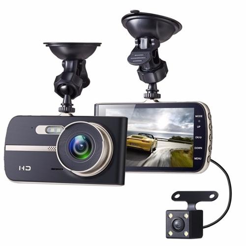 מצלמת דרך  לרכב דו כיוונית עם 2 עדשות רחבות