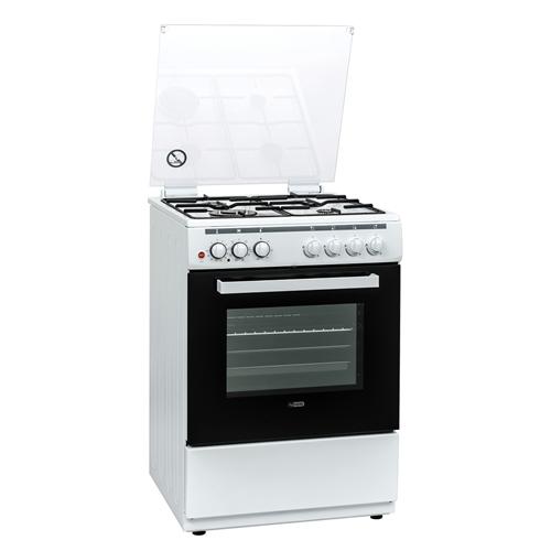 תנור משולב כיריים גז מולטיסיסטם 61 ל' לבן OH-V-710