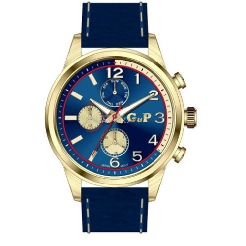 שעון יד יוקרתי לגבר מפלדת אל חלד G&P
