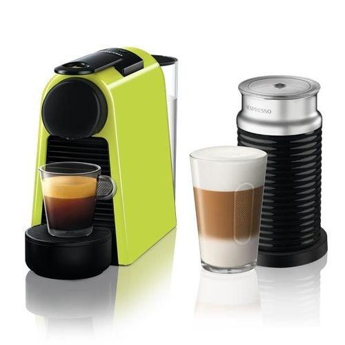 מכונת קפה NESPRESSO אסנזה מיני בצבע ירוק + מקציף