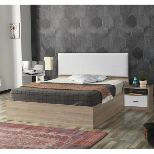 מיטה זוגית עם ראש מיטה מרופד  + 2 שידות HOME DECOR