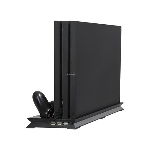מעמד מקורר, וגם מטען כפול להטענת זוג שלטי PS4
