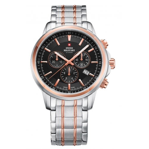 שעון יד כרונוגרף SM3405206 SWISS MILITARY