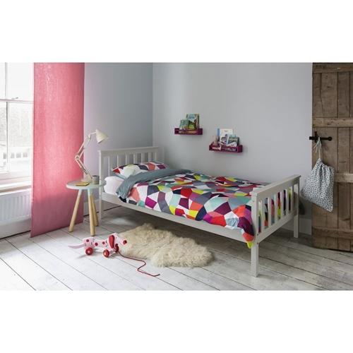 מיטת נוער ברוחב וחצי 120*190 ס''מ דגם PROSPER בצבע לבן