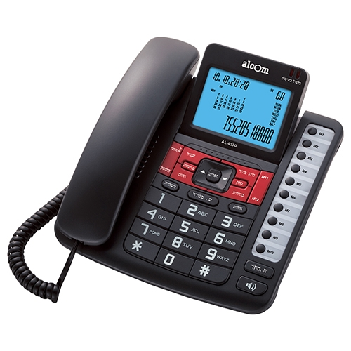 טלפון שולחני חכם עם צג גדול מתכוונן Alcom AL-6270
