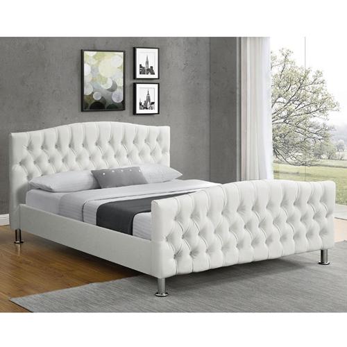 מיטת נוער רחבה בריפוד דמוי עור שחור דגם מרי 120