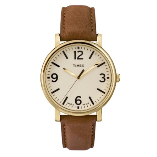 שעון יד אנלוגי מוזהב עם תאורה לגבר מבית TIMEX