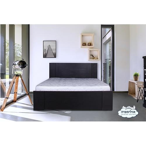מיטה זוגית מעוצבת מעץ + מזרן מבית OLYMPIA