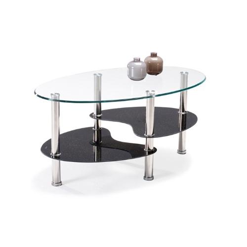 שולחן סלון זכוכית מעוצב עם שלושה משטחים מבית GAROX