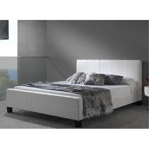 מיטת ברוחב וחצי מרופדת עור אמיתי מבית GAROX