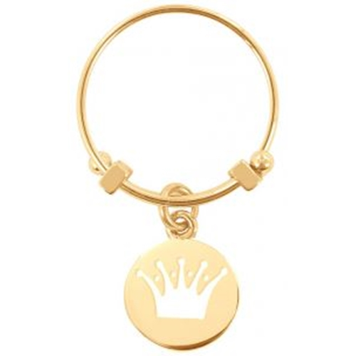 טבעת לאישה בצבע זהב עם תליון כתר מבית CO88