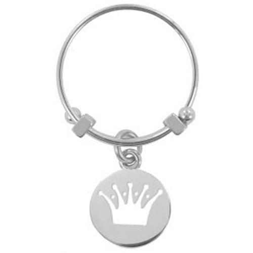 טבעת לאישה בצבע כסוף עם תליון כתר מבית CO88