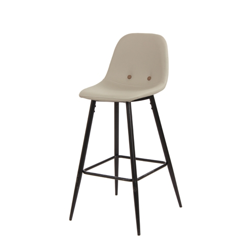 כיסא בר בעיצוב רטרו מדליק עם ריפוד דמוי עור ביתילי