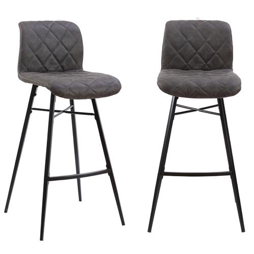 זוג כיסאות בר עם רגלי מתכת דגם רענן HOME DECOR