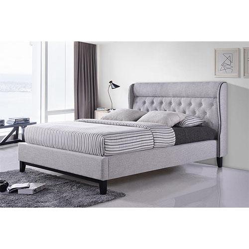 מיטה זוגית מעוצבת בריפוד בד דגם פיונה HOME DECOR