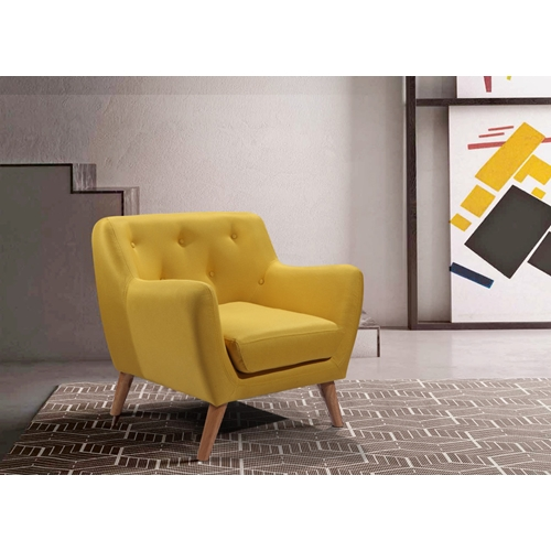 כורסא נוחה עם ריפוד בד בעיצוב רטרו מבית HOME DECOR