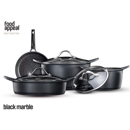 סט מהודר למטבח 7 חלקים שיש שחור מבית food appeal