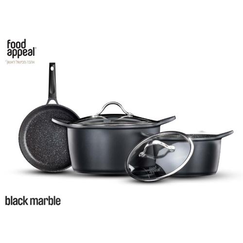 סט מהודר למטבח 5 חלקים שיש שחור מבית food appeal