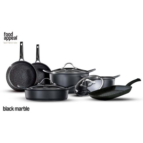 סט מהודר למטבח 9 חלקים שיש שחור מבית food appeal
