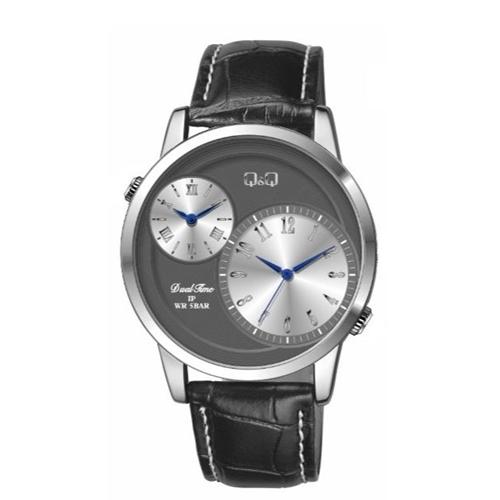 שעון יד אנלוגי עם 2 אזורי זמן לגבר מבית Q&Q