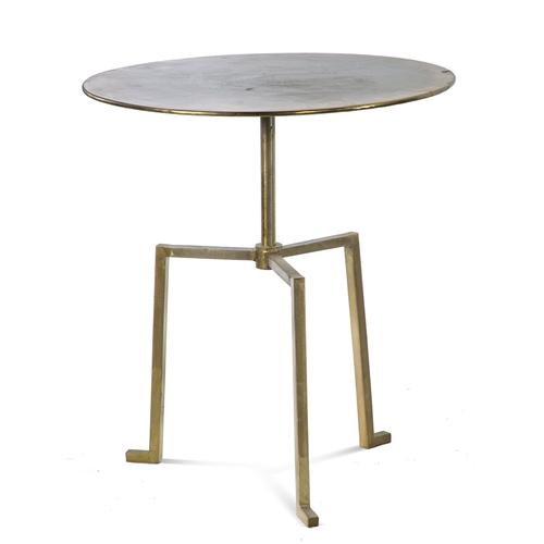 שולחן צד בעיצוב ייחודי מברזל בגוון נחושת ביתילי