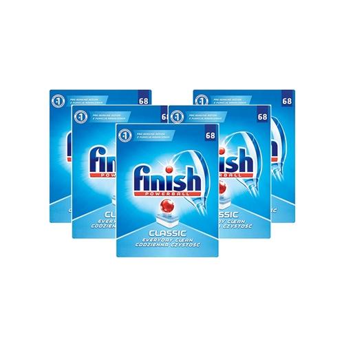מארז 5 חבילות טבליות למדיח FINISH CLASSIC