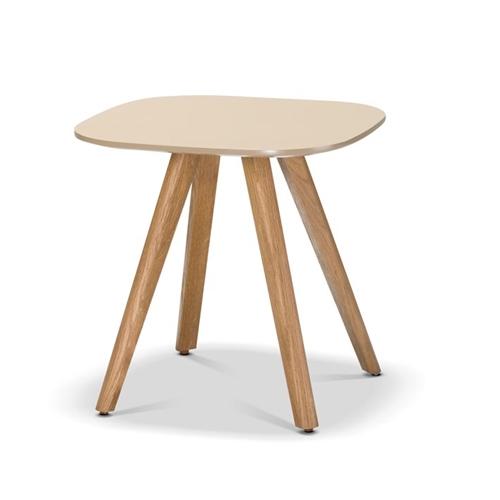 שולחן קפה מרובע לסלון בסגנון כפרי בצבע קרם ביתילי