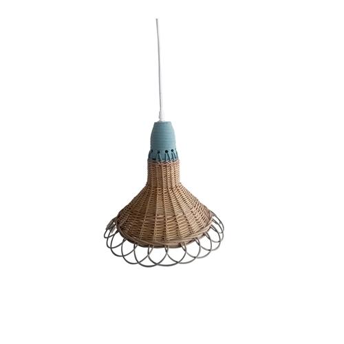 מנורת תליה מעוצבת עשויה מראטן דגם דיון ביתילי