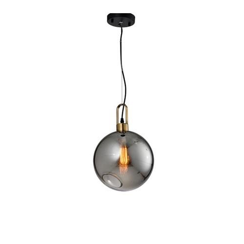 מנורת תליה ומעוצבת זכוכית בגימור קוניאק ביתילי