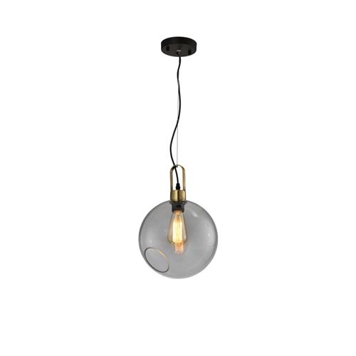 מנורת תליה מעוצבת זכוכית בגימור קוניאק ביתילי