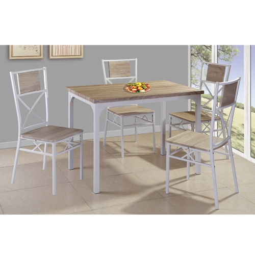 פינת אוכל מעץ הכוללת שולחן + 4 כיסאות מבית TAKE IT