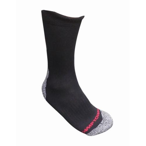 זוג גרביים טרמולייט 43-47 אפור כהה ולבן CAMPTOWN