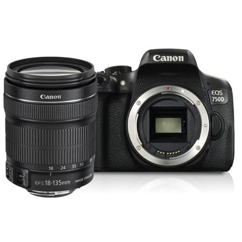 מצלמה דיגיטלית DSLR קנון 750d + עדשה 18-135mm