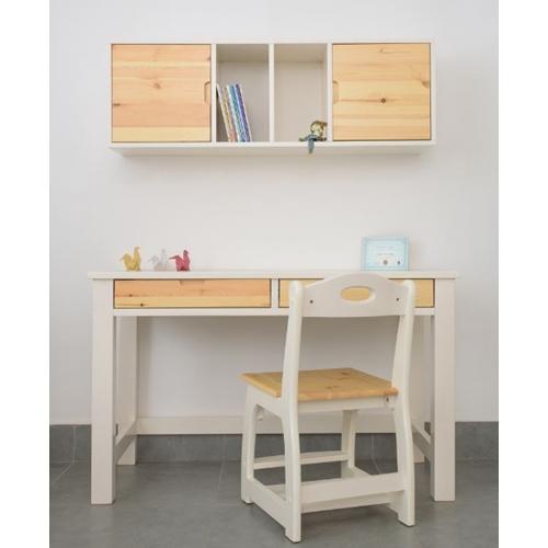שולחן עומרי 2 מגירות בעיצוב חלק ונקי עשוי עץ מלא