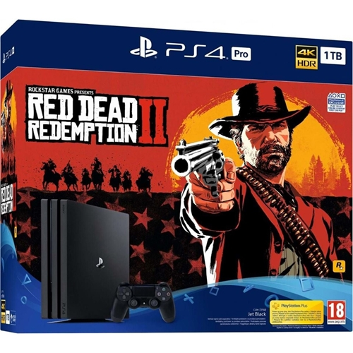 קונסולת PlayStation 4 Pro PS4 כולל משחק RED DEAD 2