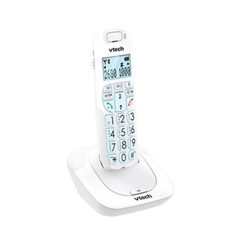 טלפון דק לבן VTECH לכבדי שמיעה