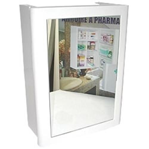 ארון תרופות לבן בעל דלת אחת ומראה KETER