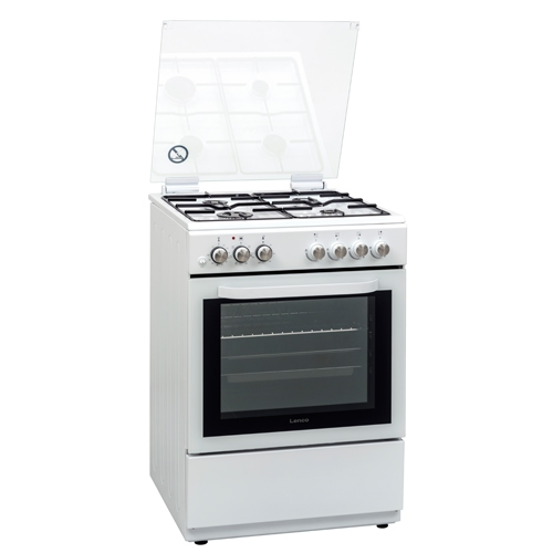 תנור אפיה משולב גז LFS-6077WS לבן LENCO